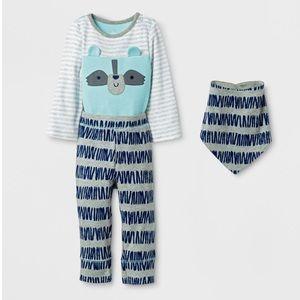 NWT Baby Boys' 3pc Raccoon Bodysuit 18mo